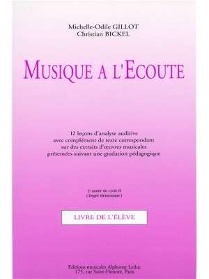Michelle-Odile Gillot: Musique a lEcoute - Cycle Initiation