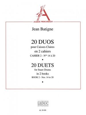 Jean Batigne: Jean Batigne: 20 Duos Vol.2: No.14 - No.20