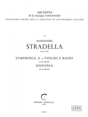 Alessandro Stradella: Symphonia in F major, pour 2 Violons et Basse