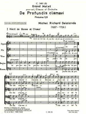 Michel-Richard Delalande: De Profundis Clamavi