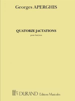 Aperghis: 14 Jactations (bar)