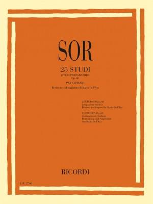 Sor: 25 Studi Op.60 (Studi preparatori)