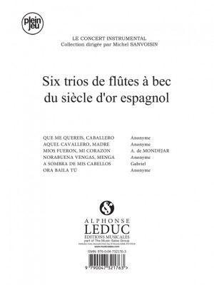Anon.: 6 Trios du Siecle dOr espagnol