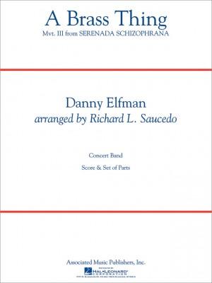 Danny Elfman: A Brass Thing (From 'serenada Schizophrana') Score Concert Band