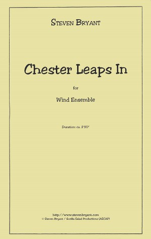 Chester Leaps In - Score Only