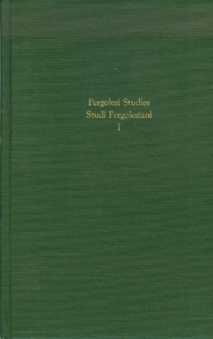Proceedings of the International Symposium - Present State of Studies on Pergolesi and His Times
