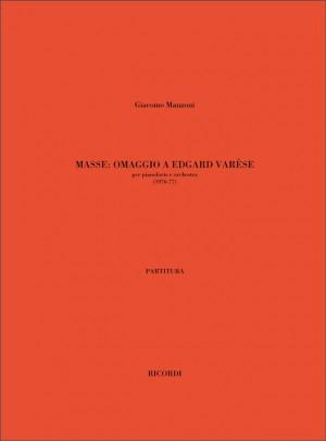 Giacomo Manzoni: Masse. Omaggio A Edgard Varese