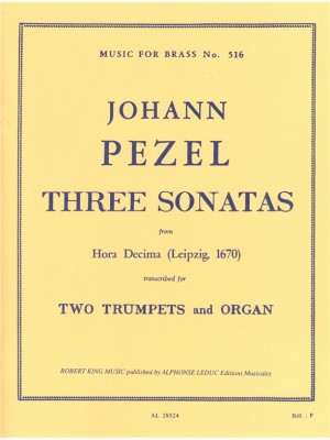 Pezel: 3 Sonatas-25-22-30Hora Decima