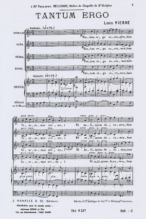 Louis Vierne: Tantum Ergo Op.2