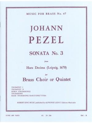 Pezel: Sonata N03-Hora Decima
