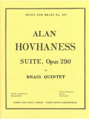 Hovhaness: Suite For Brass Quintet Op.290
