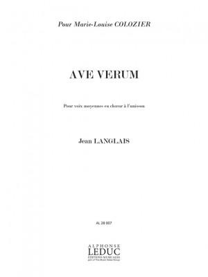 Jean Langlais: Jean Langlais: 3 Prieres No.1: Ave Verum
