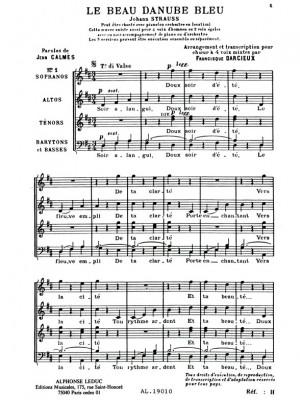 Johann Strauss Jr.: Johann Baptist II Strauss: The Blue Danube Op.314