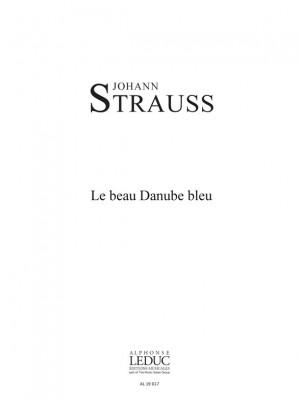 Johann Strauss Jr.: Beau Danube Bleu 2 Equal Voices & Piano