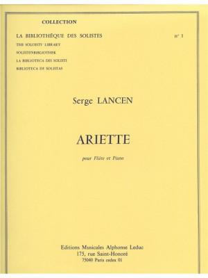 Serge Lancen: Ariette
