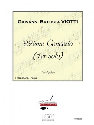 Giovanni Battista Viotti: Concerto No 22 Solo No 1 Moderato