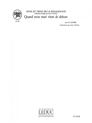 Jean de Castro: Duos Trios Renaissance Pj304