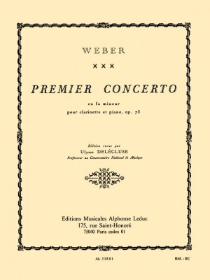 Carl Maria von Weber: Concerto No.1 In F Minor Product Image