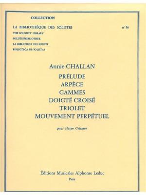 Annie Challan: Prelude-Arpege-Gammes-Doigte croise-Triolet