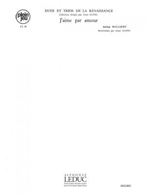 Adrian Willaert: Duos Trios Renaissance Pj26