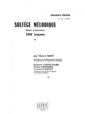 Henri Bert: Solfege Melodique 100 Lecons Degre Preparatoire