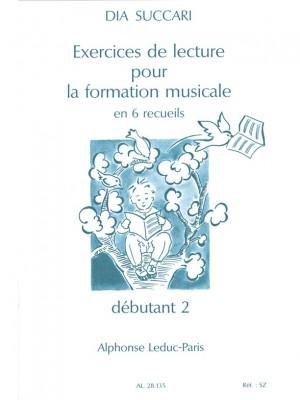 Succari: Exercices De Lecture Pour La Form. Musicale Vol 2