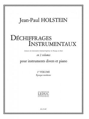 Jean-Paul Holstein: Dechiffrages Instrumentaux Volume 2 Epoque Moderne