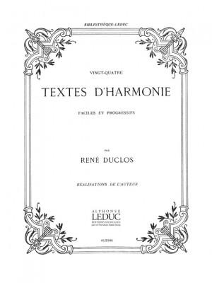 Duclos: 24 Textes D'harmonie Faciles Et Progressifs