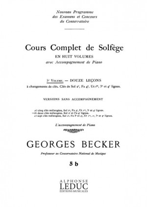 Becker: Cours Complet Solfege 5b Vol 5 12 Lec 2 Cles