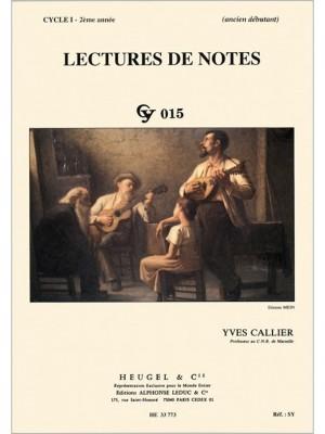 Yves Callier: Lectures De Notes - Cy015