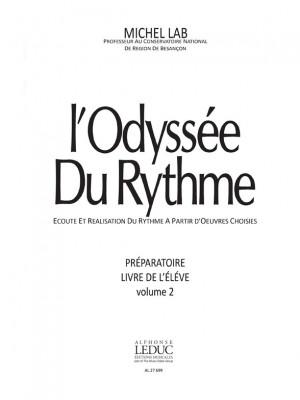Michel Lab: Odyssee Du Rythme v 2 Preparatoire Livre de Leleve