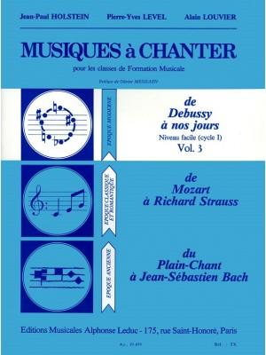 Jean-Paul Holstein_Level: Level Musiques A Chanter Cycle 1 Niveau Vol 3