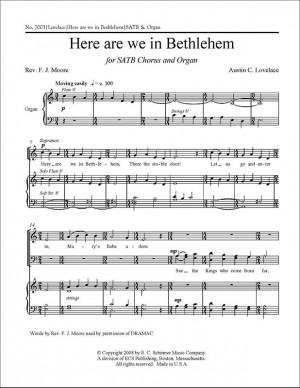 Austin C. Lovelace: Here are we in Bethlehem