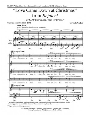 Gwyneth Walker: Rejoice!: No. 2 Love Came Down at Christmas