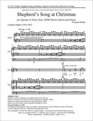 Gwyneth Walker: Shepherd's Song at Christmas