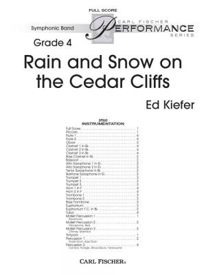 Ed Kiefer: Rain and Snow on the Cedar Cliffs Product Image
