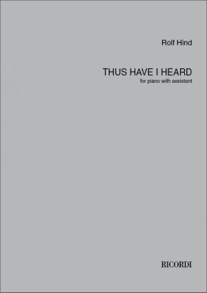 Rolf Hind: Thus have I heard