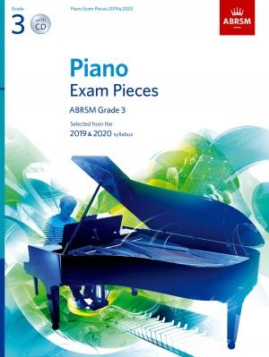 Piano Exam Pieces 2019 & 2020, ABRSM Grade 3, with CD