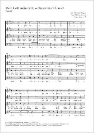 Wagner, Alexander: Mein Gott, mein Gott, verlassen hast Du mich