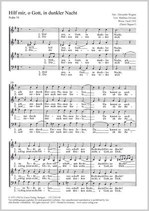 Wagner, Alexander: Hilf mir, o Gott, in dunkler Nacht