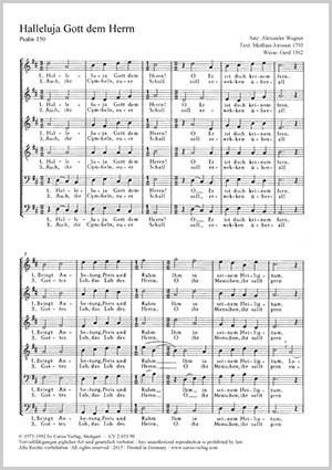 Wagner, Alexander: Halleluja Gott dem Herrn