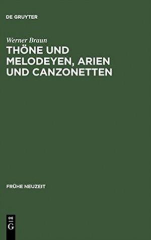 Thoene und Melodeyen, Arien und Canzonetten