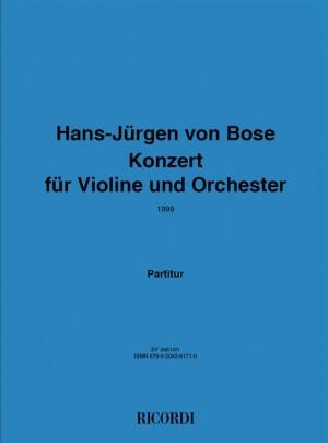Hans Jürgen von Bose: Konzert für Violine und Orchester