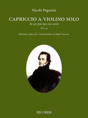 """Niccolò Paganini: Capriccio a violino solo """"In cor più non mi sento"""""""