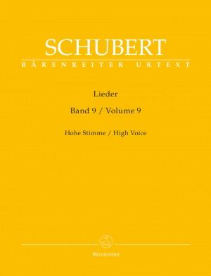 Schubert, Franz: Lieder Volume 9 (High Voice) Product Image