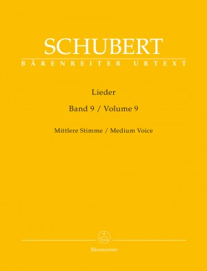 Schubert, Franz: Lieder Volume 9 (Medium Voice) Product Image