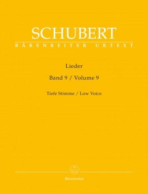 Schubert, Franz: Lieder Volume 9 (Low Voice)