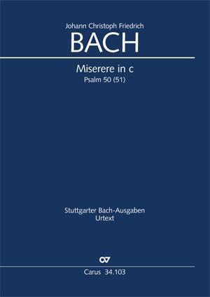 Bach, JCF: Miserere in C minor BR JCFB E 1