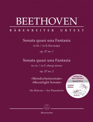 "Beethoven, Ludwig van: Sonata quasi una Fantasia for Pianoforte in E-flat major op. 27 no. 1 / Sonata quasi una Fantasia for Pianoforte in C-sharp minor op. 27 no. 2 ""Moonlight Sonata"" Product Image"
