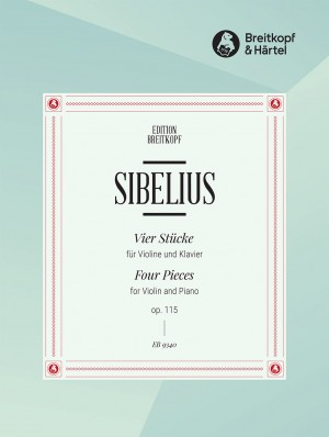 Sibelius: 4 Pieces for Violin and Piano Op. 115 Product Image